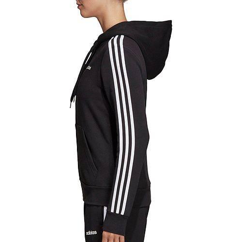 アディダス ADIDAS レディース レディースファッション トップス パーカー 【 Womens Essentials 3-stripes Full Zip Hoodie 】 Black/white