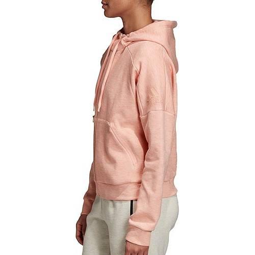アディダス ADIDAS レディース レディースファッション トップス パーカー 【 Womens Id Melange Hoodie 】 Glow Pink