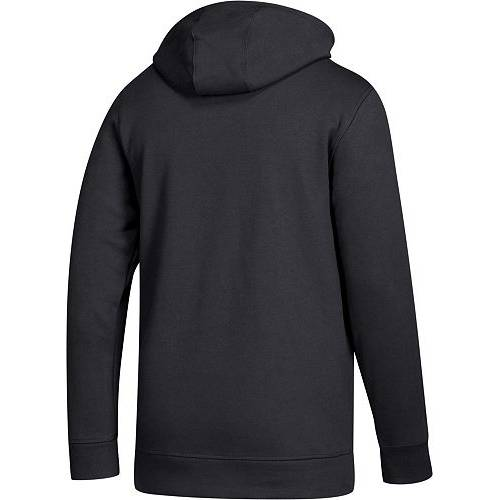 アディダス ADIDAS メンズ イリノイ ロゴ フリース 黒 ブラック メンズファッション トップス パーカー 【 Mens Northern Illinois Huskies Logo Fleece Pullover Black Hoodie 】 Color