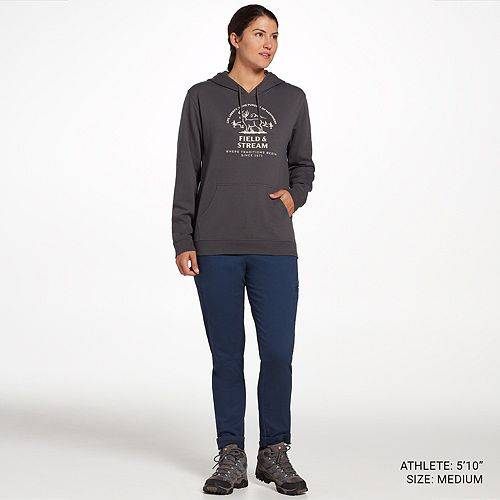 FIELD & STREAM フィールド レディース グラフィック レディースファッション トップス パーカー 【 Field And Stream Womens Graphic Hoodie 】 Grey Pursuit