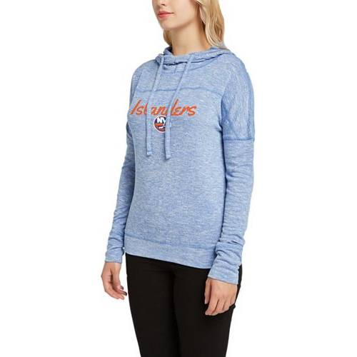 CONCEPTS SPORT レディース レディースファッション トップス パーカー 【 Womens New York Islanders Marble Royal Heathered Pullover Hoodie 】 Color