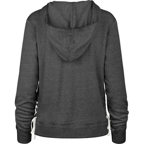 '47 レディース ミネソタ バイキングス 黒 ブラック レディースファッション トップス パーカー 【 Womens Minnesota Vikings Side Lace Black Hoodie 】 Color