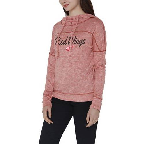 CONCEPTS SPORT レディース デトロイト 赤 レッド レディースファッション トップス パーカー 【 Womens Detroit Red Wings Marble Red Heathered Pullover Hoodie 】 Color