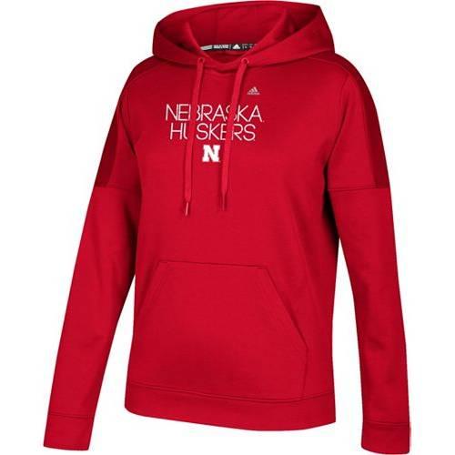 アディダス ADIDAS レディース パフォーマンス レディースファッション トップス パーカー 【 Womens Nebraska Cornhuskers Scarlet Performance Hoodie 】 Color