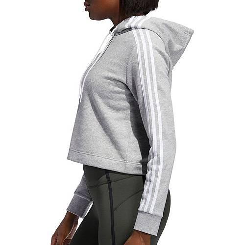 アディダス ADIDAS レディース ゲーム レディースファッション トップス パーカー 【 Womens Post Game Cropped Hoodie 】 Mgh/white