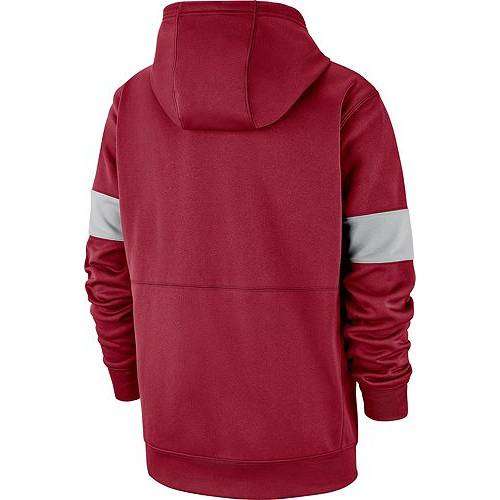 ナイキ NIKE メンズ アラバマ サーマ サイドライン メンズファッション トップス パーカー 【 Mens Alabama Crimson Tide Crimson Therma Football Sideline Pullover Hoodie 】 Color