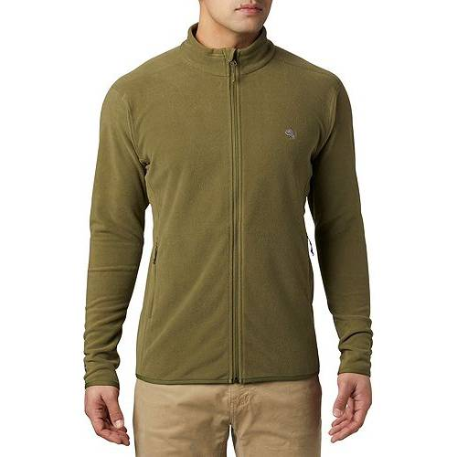 MOUNTAIN HARDWEAR メンズ メンズファッション コート ジャケット 【 Mens Macrochill Full Zip Jacket 】 Combat Green