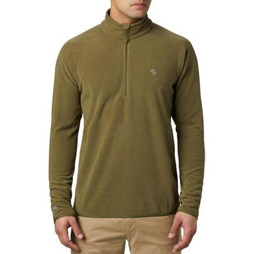 MOUNTAIN HARDWEAR コンバット 緑 グリーン MEN'S 【 GREEN MOUNTAIN HARDWEAR MACROCHILL 1 2 ZIP JACKET COMBAT 】 メンズファッション コート ジャケット