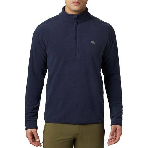 MOUNTAIN HARDWEAR メンズ メンズファッション コート ジャケット 【 Mens Macrochill 1/2 Zip Jacket 】 Dark Zinc