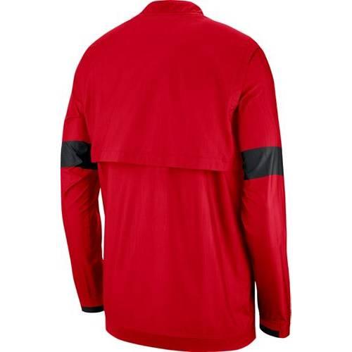 ナイキ NIKE メンズ オハイオ スケートボード メンズファッション コート ジャケット 【 Mens Ohio State Buckeyes Scarlet Lockdown Half-zip Football Jacket 】 Color