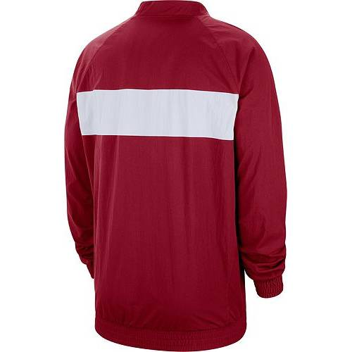 ナイキ ジョーダン JORDAN メンズ メンズファッション コート ジャケット 【 Mens Oklahoma Sooners Crimson Lockdown Half-zip Football Jacket 】 Color