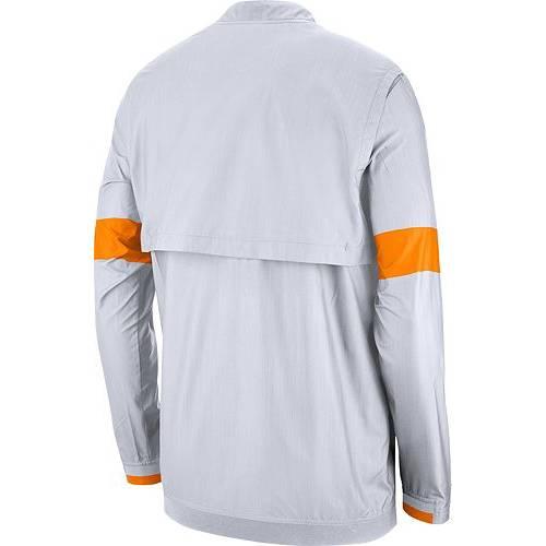ナイキ NIKE メンズ テネシー 白 ホワイト メンズファッション コート ジャケット 【 Mens Tennessee Volunteers Lockdown Half-zip Football White Jacket 】 Color