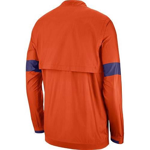 ナイキ NIKE メンズ タイガース 橙 オレンジ メンズファッション コート ジャケット 【 Mens Clemson Tigers Orange Lockdown Half-zip Football Jacket 】 Color
