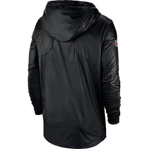 ナイキ NIKE メンズ カロライナ パンサーズ サイドライン 黒 ブラック メンズファッション コート ジャケット 【 Mens Carolina Panthers Sideline Repel Player Black Jacket 】 Color