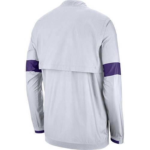 ナイキ NIKE メンズ タイガース 白 ホワイト メンズファッション コート ジャケット 【 Mens Lsu Tigers Lockdown Half-zip Football White Jacket 】 Color