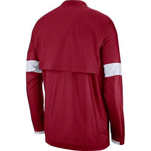 ナイキ NIKE メンズ アラバマ メンズファッション コート ジャケット 【 Mens Alabama Crimson Tide Crimson Lockdown Half-zip Football Jacket 】 Color