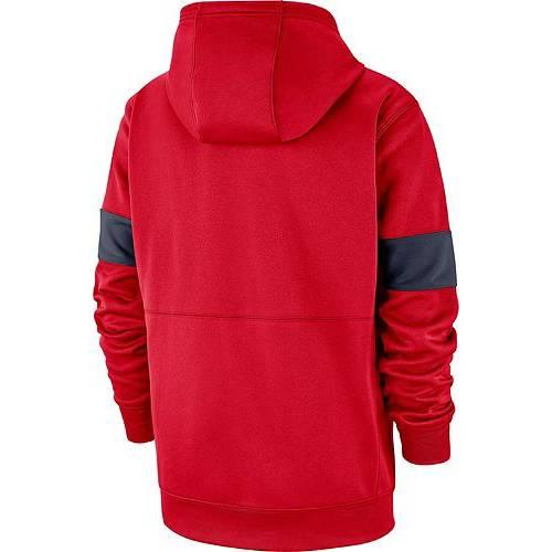 ナイキ NIKE メンズ アリゾナ 赤 カーディナル サーマ サイドライン メンズファッション トップス パーカー 【 Mens Arizona Wildcats Cardinal Therma Football Sideline Pullover Hoodie 】 Color