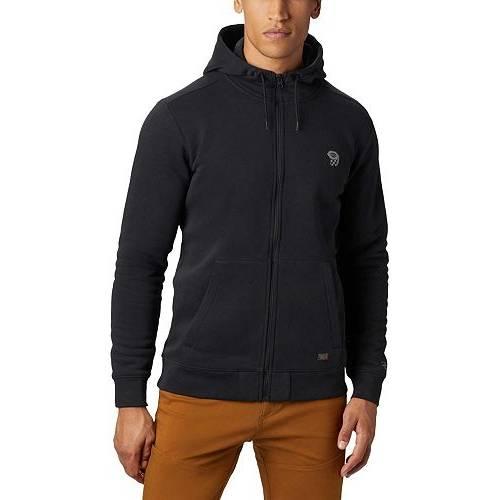 MOUNTAIN HARDWEAR メンズ ロゴ メンズファッション トップス パーカー 【 Mens Hardwear Logo Full Zip Hoodie 】 Black