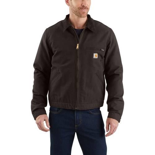 カーハート CARHARTT メンズ デトロイト メンズファッション コート ジャケット 【 Mens Washed Duck Detroit Jacket 】 Dark Brown