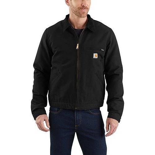 カーハート CARHARTT メンズ デトロイト メンズファッション コート ジャケット 【 Mens Washed Duck Detroit Jacket 】 Black
