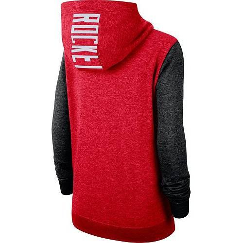 ナイキ NIKE レディース ヒューストン ロケッツ ラグラン レディースファッション トップス パーカー 【 Womens Houston Rockets Raglan Full-zip Hoodie 】 Color