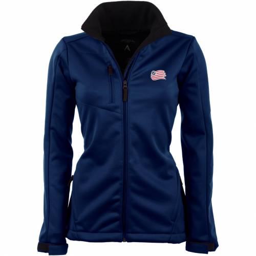 【★スーパーセール中★ 6/11深夜2時迄】ANTIGUA レディース 紺 ネイビー 【 Womens New England Revolution Traverse Navy Soft-shell Full-zip Jacket 】 Color