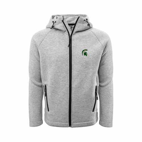 LEVELWEAR メンズ ミシガン スケートボード Gray灰色 グレイ メンズファッション コート ジャケット 【 Mens Michigan State Spartans Grey Titan Full-zip Jacket 】 Color