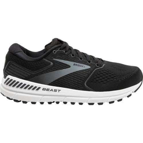 ブルックス BROOKS スニーカー 運動靴 黒 ブラック 灰色 グレ MEN'S スニーカー 【 BLACK BROOKS BEAST 20 RUNNING SHOES GREY 】 メンズ スニーカー