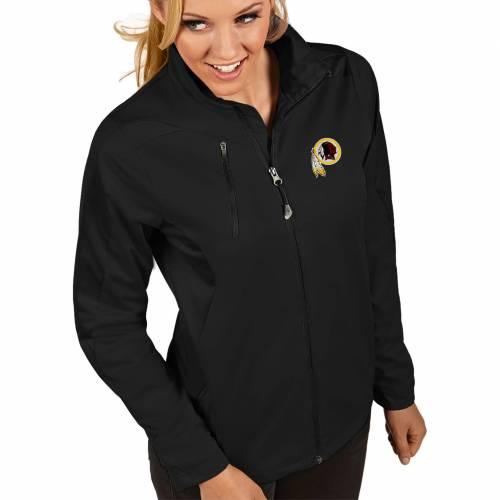 【★スーパーセール中★ 6/11深夜2時迄】ANTIGUA レディース ワシントン レッドスキンズ 黒 ブラック 【 Womens Washington Redskins Discover Full-zip Black Jacket 】 Color
