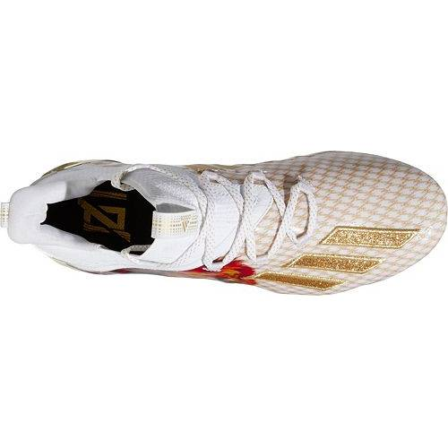 アディダス ADIDAS メンズ アディゼロ 2.0 スニーカー 【 Mens Adizero X Anniversary 2.0 Lion Football Cleats 】 White/gold