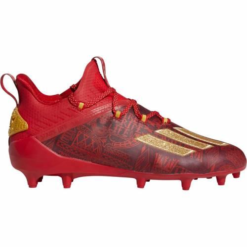 アディダス ADIDAS メンズ アディゼロ スニーカー 【 Mens Adizero New Reign Football Cleats 】 Red/gold