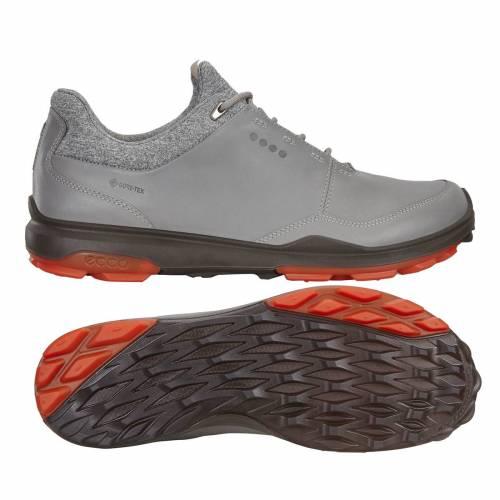 エコー ECCO メンズ ハイブリッド ゴルフ スニーカー 運動靴 【 Mens Hybrid 3 Golf Shoes 】 Grey/red