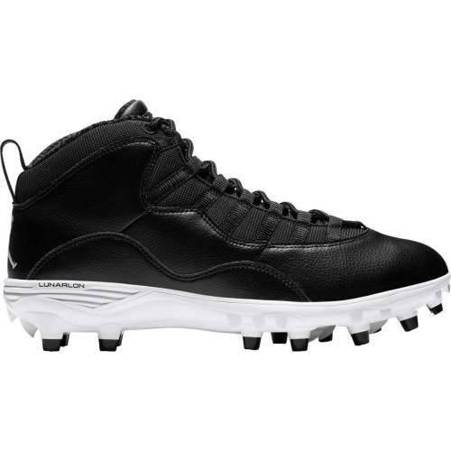 ナイキ ジョーダン JORDAN メンズ ミッド スニーカー 【 Mens 10 Td Mid Football Cleats 】 Black/white