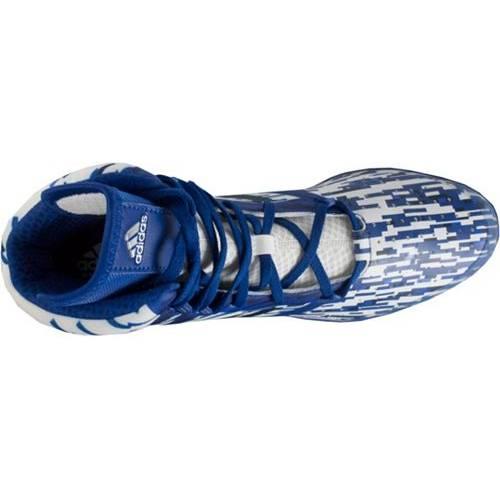 アディダス ADIDAS メンズ インパクト スニーカー 運動靴 【 Mens Impact Wrestling Shoes 】 Blue/white