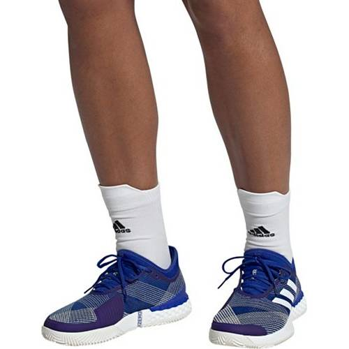 アディダス ADIDAS テニス スニーカー 運動靴 青 ブルー 白 ホワイト MEN'S スニーカー 【 BLUE WHITE ADIDAS UBERSONIC 3 TENNIS SHOES ROYAL 】 メンズ スニーカー