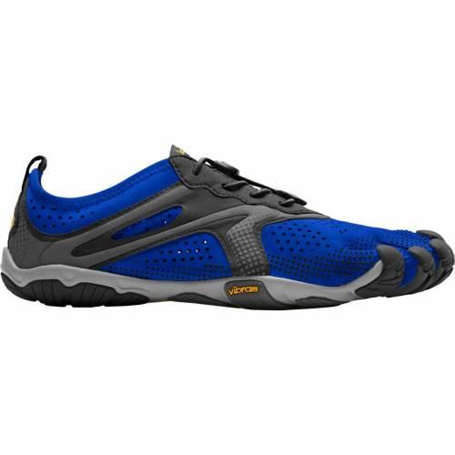 VIBRAM スニーカー 運動靴 青 ブルー 黒 ブラック MEN'S スニーカー 【 BLUE BLACK VIBRAM FIVEFINGERS VRUN RUNNING SHOES 】 メンズ スニーカー