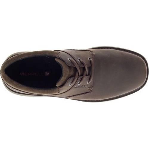 MERRELL スニーカー 運動靴 黒 ブラック MEN'S スニーカー 【 BLACK MERRELL WORLD VUE LACE CASUAL SHOES SLATE 】 メンズ スニーカー