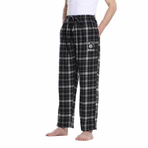 CONCEPTS SPORT メンズ ブルックリン ネッツ インナー 下着 ナイトウエア ナイト ルーム パジャマ 【 Mens Brooklyn Nets Plaid Flannel Pajama Pants 】 Color