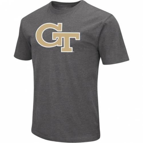 COLOSSEUM メンズ テック 黄色 イエロー Gray灰色 グレイ デュエル Tシャツ メンズファッション コート ジャケット 【 Mens Georgia Tech Yellow Jackets Grey Dual Blend T-shirt 】 Color