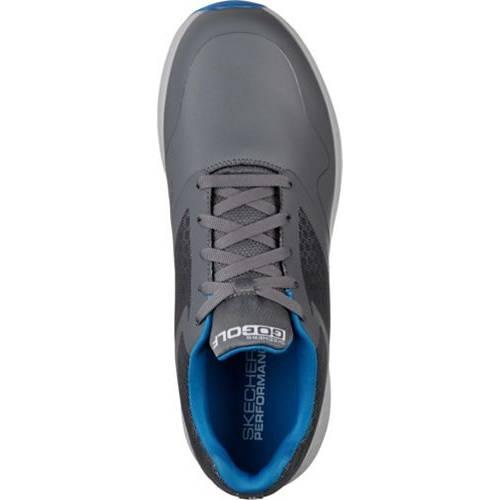 SKECHERS スケッチャーズ ゴルフ マックス スニーカー 運動靴 チャコール 青 ブルー MEN'S スニーカー 【 GOLF BLUE SKECHERS GO MAX SHOES CHARCOAL 】 メンズ スニーカー