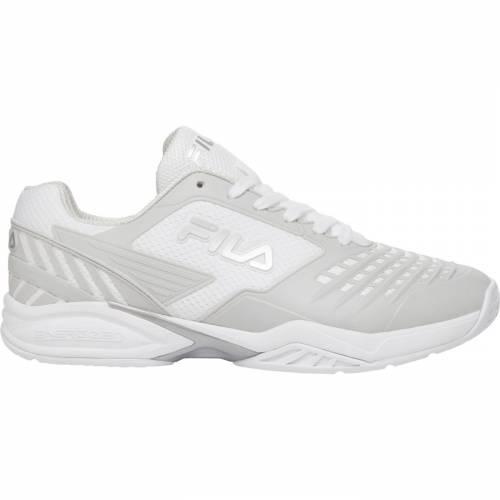 フィラ FILA メンズ テニス スニーカー 【 Mens Axilus 2 Energized Tennis Shoe 】 White/silver
