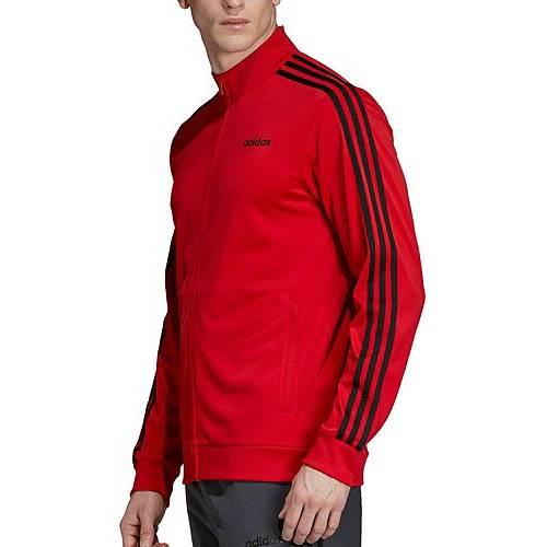 アディダス ADIDAS メンズ トラック メンズファッション コート ジャケット 【 Mens Essentials 3-stripes Tricot Track Jacket (regular And Big And Tall) 】 Scarlet