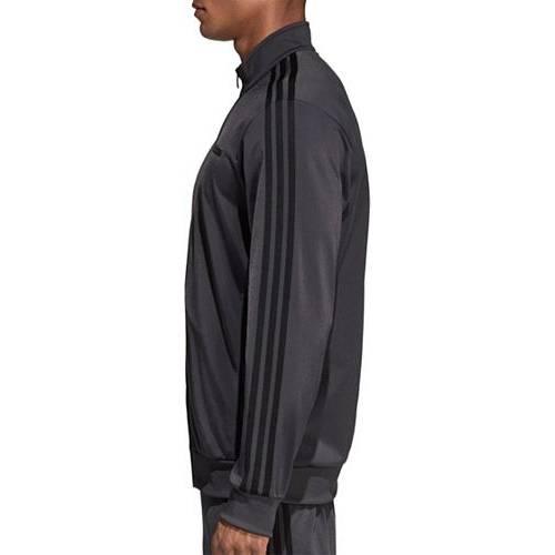 アディダス ADIDAS メンズ トラック メンズファッション コート ジャケット 【 Mens Essentials 3-stripes Tricot Track Jacket (regular And Big And Tall) 】 Solid Grey/black