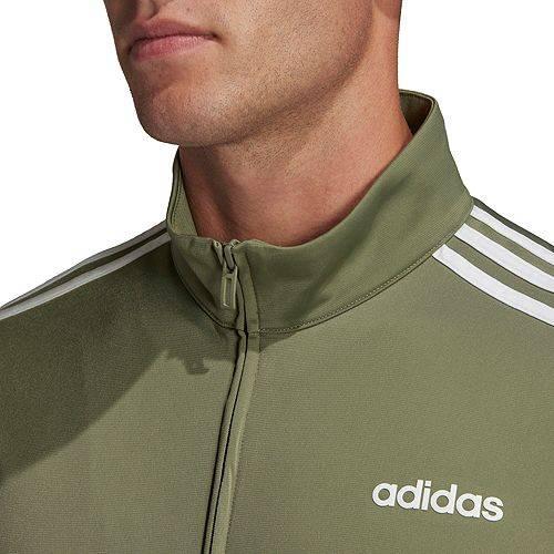 アディダス ADIDAS メンズ トラック メンズファッション コート ジャケット 【 Mens Essentials 3-stripes Tricot Track Jacket (regular And Big And Tall) 】 Legacy Green/white
