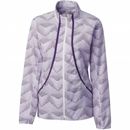 CUTTER & BUCK レディース ゴルフ 【 Cutter And Buck Womens Annika Cloud Breaker Full-zip Golf Jacket 】 White/black Impulse