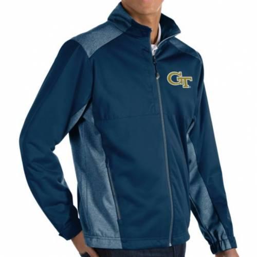 ANTIGUA メンズ テック 黄色 イエロー 紺 ネイビー メンズファッション コート ジャケット 【 Mens Georgia Tech Yellow Jackets Navy Revolve Full-zip Jacket 】 Color