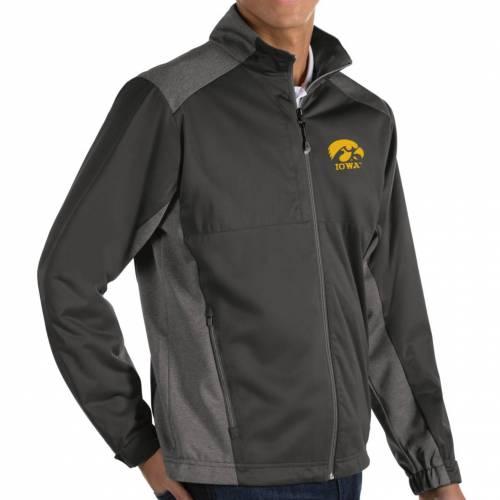 ANTIGUA メンズ Gray灰色 グレイ メンズファッション コート ジャケット 【 Mens Iowa Hawkeyes Grey Revolve Full-zip Jacket 】 Color