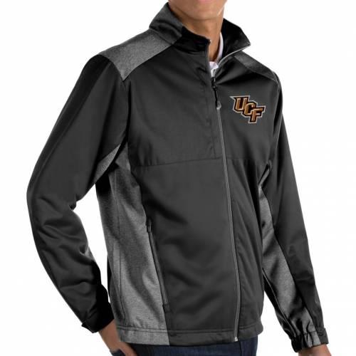 ANTIGUA メンズ 黒 ブラック メンズファッション コート ジャケット 【 Mens Ucf Knights Revolve Full-zip Black Jacket 】 Color