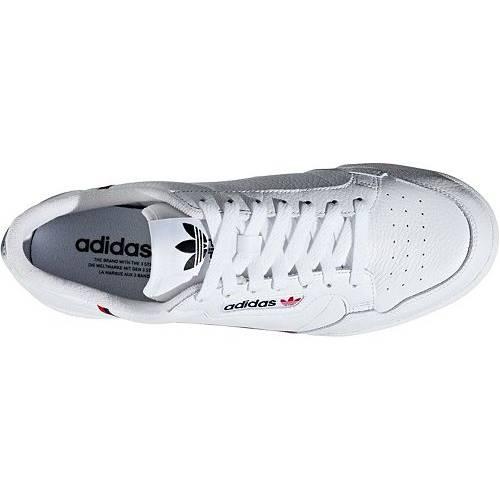 アディダス ADIDAS スニーカー 運動靴 白 ホワイト 赤 レッド MEN'S スニーカー 【 WHITE RED ADIDAS CONTINENTAL 80 SHOES 】 メンズ スニーカー