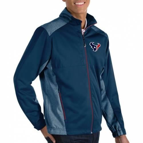 ANTIGUA メンズ ヒューストン テキサンズ 紺 ネイビー メンズファッション コート ジャケット 【 Mens Houston Texans Revolve Navy Full-zip Jacket 】 Color